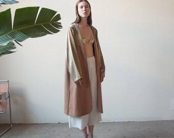 two tone liner coat / midi minimalist coat / s / m / 2235o
