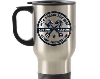Devil Garage Stainless Steel Insulated Travel Mug