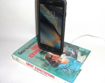 IPhone 5, 6, or 7  Charging Dock, Charles Dickens Great Expectations, Docking Charger Station