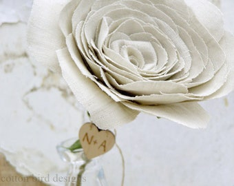 4th Anniversary Natural Linen Fabric Flower Gift for Her Wife Girlfriend Check processing and delivery times