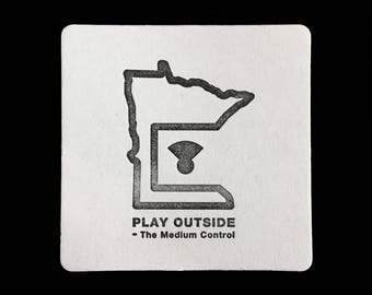 Play Outside Minnesota - Letterpress Coaster Set
