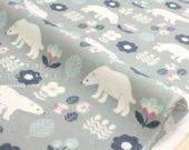 Japanese Fabric Polar Bear flannel - pink, grey - 50cm