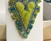 Handmade heartfelt brooch