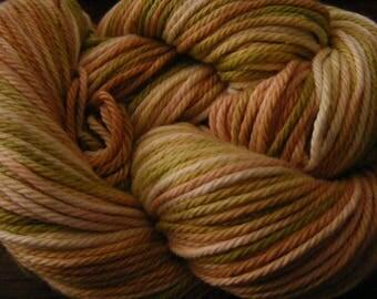 Handpainted Turkish Cotton Yarn 180yds 3.5 oz Worsted Weight Hand Painted Aspenmoonarts C050 knitting weaving