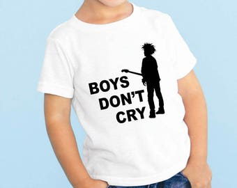 The Cure Boy's Don't Cry Baby or Toddler Gift Set T-Shirt & Optional Gift Box
