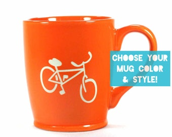 Bicycle Mug - Choose Your Bike Cup Color