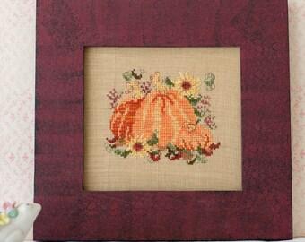 Pumpkins Sunflowers Cross Stitch PDF Pattern Set