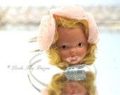 Retro Doll Head Bracelet Blonde Nancy Ann Head Bracelet Clamper Cuff Bracelet Style Wearable Doll Face Statement Bracelet