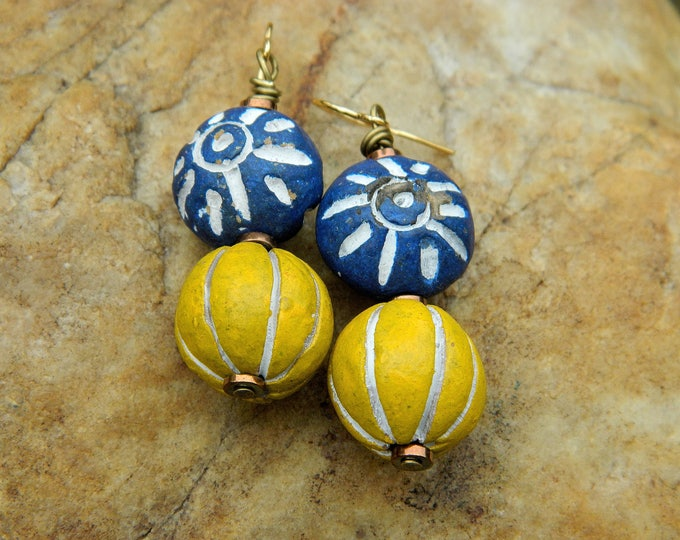 Featured listing image: Boho Clay Bead Dangling Earrings