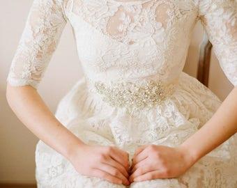 Ellie--2 Piece, Lace and Cotton Wedding Dress--Super Sale--Final Sale