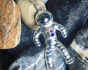 Astronaut spaceman space charm necklace