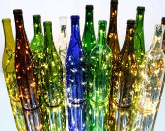 Free Shipping Recycled, Electric Wine Bottle Light