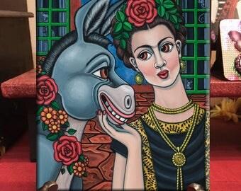 Frida Kahlo Art Frida Art Donkey Art
