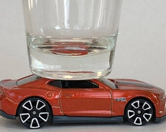 the ORIGINAL Hot Shots Shot Glass, 2018 Chevy Camaro SS, Hot Wheel
