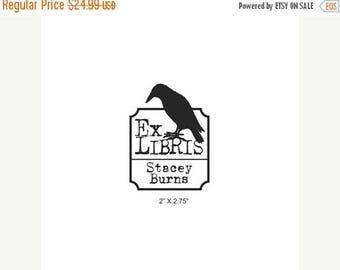 Super Summer Sale Personalized Big Daddy Crow Ex Libris Bookplate Rubber Stamp C03