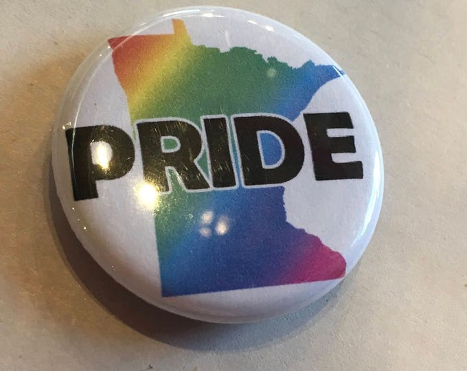MN Pride Button or Magnet 1.25""