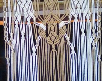 Macrame Diamond Twist Weave Curtain Panel