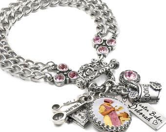 Love to Bake, Bracelet, Baking Jewelry, Kitchen Jewelry, Utensil Charms, Cook Bracelet, Kitchen Charms, Personalized Baker Jewelry