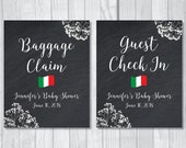 Two Custom Printable 16x20 Chalkboard Baby Shower Signs