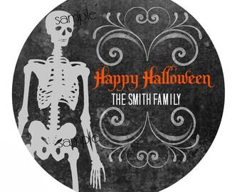 Halloween skeleton Stickers,Mummy, Halloween Party favors, Personalized Halloween Stickers, Hallloween labels,halloween treats