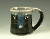 Small pottery Mug (12oz) in tenmoku black glaze - great morning coffee mugs