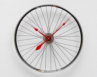 Bike Wheel Clock, Large Wall Clock, Cyclist Gift, Unique Wedding Gift, Steampunk Decor, Bicycle Wall Clock, Modern Wall Clock, Schwinn