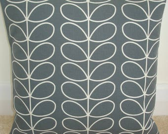"18x18 Zippered Pillow Cover Orla Kiely Linear Stem Cool Grey 18"" Square Accent Decorative Throw Cushion Case Sham Slip Retro Gray Zipped"