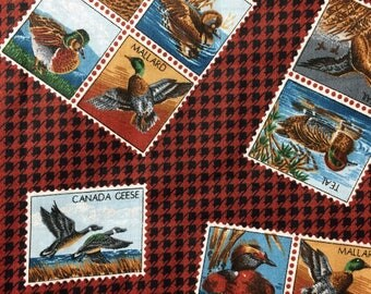 Duck Postage Stamp Fabric 1 yard x 42 inches