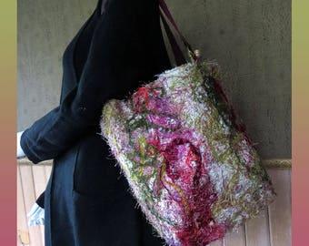 Knitting tote, handmade