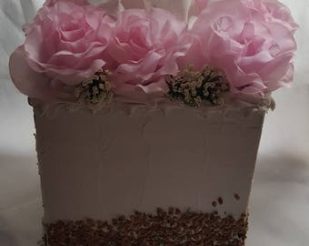 Fake Cake tissue box holder Handmade