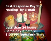 Same Day Psychic Reading,  One, Two, or Three Questions, 15 minute reading, Spirit Guide Reading, Tarot Card Reading, By Email