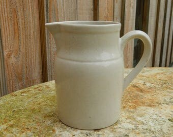 French cream-coloured Pitcher Digoin 2.  Water jug -