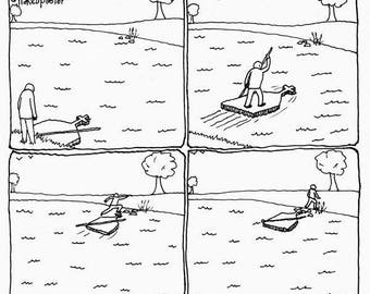 Buddha's Raft CARTOON