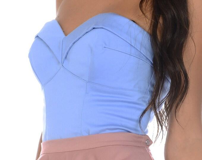Scarlett Bustier in Periwinkle Blue