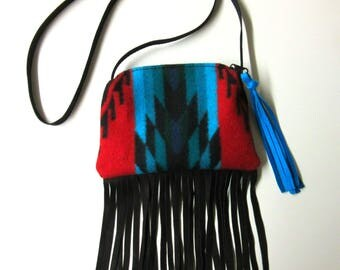 Little Girl's First Purse Cross Body Bag Adult Neck Pouch Blanket Wool from Pendleton Oregon