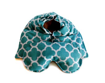 microwave heat therapy, rice bag, heating pad, cotton anniversary gift, cold therapy neck wrap/eye mask gift set, flax seed, aromatherapy