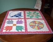 30's sampler table topper