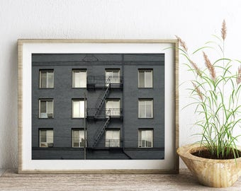 """Architecture art - San Francisco - windows print - city photography - modern wall art - gift for him - silver charcoal black """"Graphite"""""""