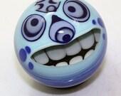 "Tiki Monstet Marble in Blue  1 3/8"""