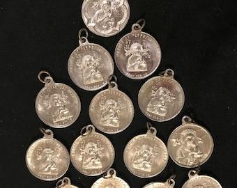 LOT of 14 OLD Vintage medals Charms HOLY Spirit Catholic religious Holy Jesus Mary Saint Saints Destash