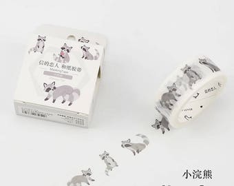 Raccoon Masking Tape •  Raccoon Washi Tape (M-LF20-6334)