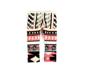 Fits like American Girl Doll Clothes - Coral Ethnic Leggings, Made To Order