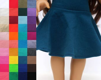 Fits like American Girl Doll Clothes - Skater Skirt, You Choose Color
