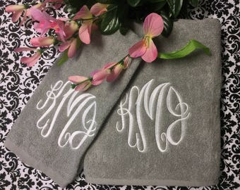 Monogramed Towel Set