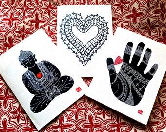 Valentine Card Set of 6