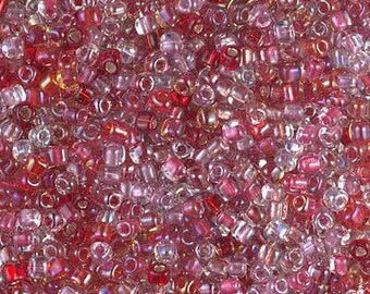 MIYUKI Japanese Seed Beads - Triangle 10/0: TR10-MIX-05 Tri-Mix Valentine - choose your gram weight