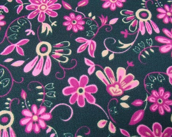 original fabric 1960s / vintage fabric / 1960s / 70s / flower / skirt / dress / stretch