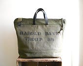 CUSTOM ORDER for M. Canvas & lumber apron carryall, tote bag - eco vintage fabrics