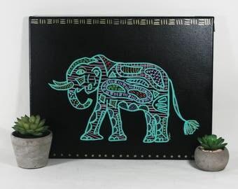 Bohemian Elephant Wall Art - Original Painting - One of a Kind