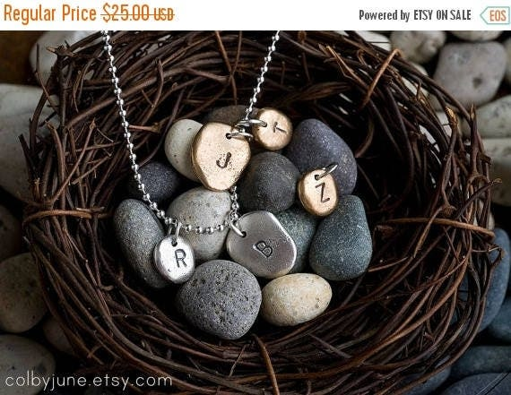 20% Off Memorial Day Sale Small Silver Pebble Charm